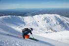 Skiing at Mt Hutt.