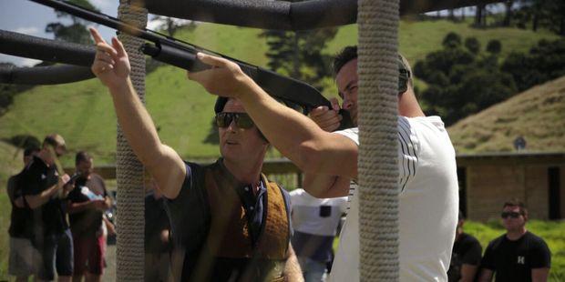 Skeet shooting.
