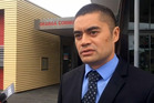 Detective constable Patrick Whitiora speaks to media after police have launched an investigation into a serial sex offender in Onehunga. Photo / Supplied
