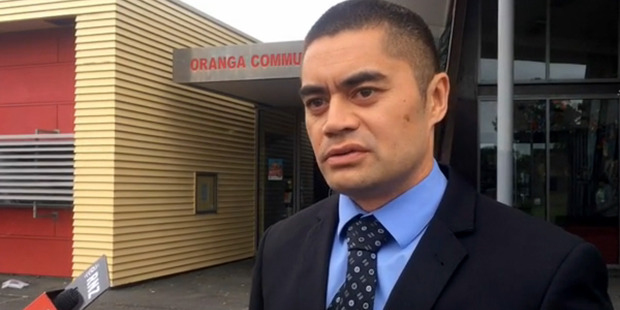 Loading Detective constable Patrick Whitiora speaks to media after police have launched an investigation into a serial sex offender in Onehunga. Photo / Supplied