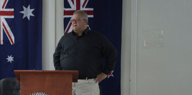 Gerry Brownlee visited Taji Military Camp in Iraq last month. Photo / Supplied