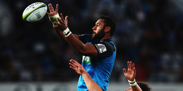 Tuipulotu is a swing selection because, if he's included in the All Blacks squad at lock, it will affect who is picked as a loose forward. Photo / Getty Images