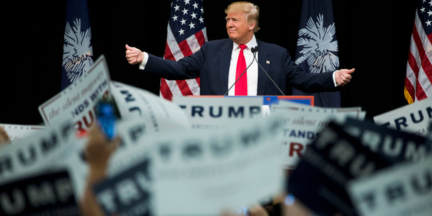 Republican presidential candidate Donald Trump during a campaign stop. Photo / AP