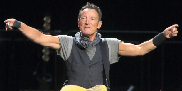 Bruce Springsteen began speaking out against Ronald Reagan. Photo / AP