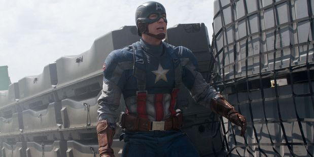 Chris Evans in a scene fromCaptain America: The Winter Soldier.