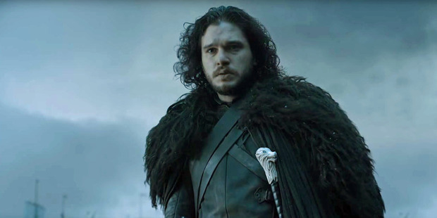 Kit Harington as Jon Snow in a scene from the TV show Game of Thrones.