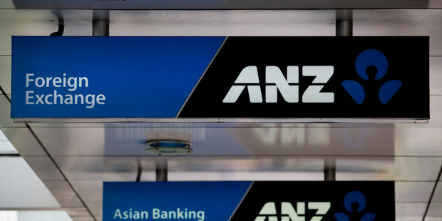 The new ANZ Bank logo, located on their Queen St branch in Auckland City. 2 November 2010 New Zealand Herald Photograph by Dean Purcell