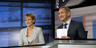 Hilary Barry and Mike McRoberts presenting the news. Photo / Supplied