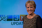 3 News presenter Hilary Barry in the studio at TV3. Photo / Steven McNicholl