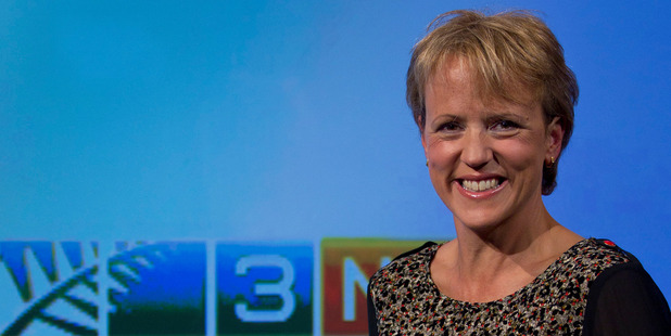 Loading 3 News presenter Hilary Barry in the studio at TV3. Photo / Steven McNicholl