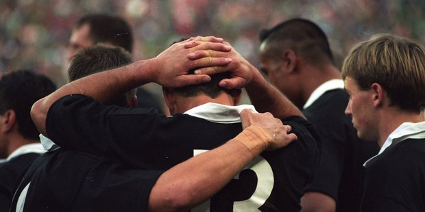 The All Blacks lost the Rugby World Cup in extra time to the Springboks in 1995. Photo / File