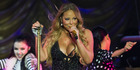 Mariah Carey performed an incredibly awkward lap dance for one of her dancers. Photo / Greg Bowker