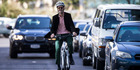 """""""Active travel"""" such as cycling benefits health but there have been concerns about pollution. Photo / Jason Oxenham"""