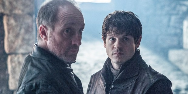 Roose Bolton (left) and Ramsay Bolton in their final Game of Thrones scene together (HBO)