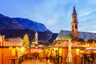It's worth visiting Europe during winter so you can enjoy the famous Christmas markets, such as this one in Bolzano, Italy.