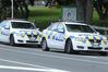 Bay police cars
