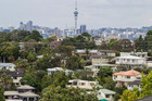 North Shore housing and Auckland CBD seen from High Rd. Photo / Michael Craig