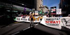 The Trans-Pacific Partnership trade deal has been challenged by protesters as well as opposition MPs. Photo / Dean Purcell