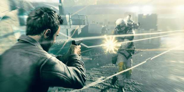 Screenshot from Quantum Break, new Xbox One game out April 5.