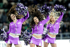 Cheerleaders at Melbourne Storm v St George Illlawarra Dragons game. Photo / Paul Taylor