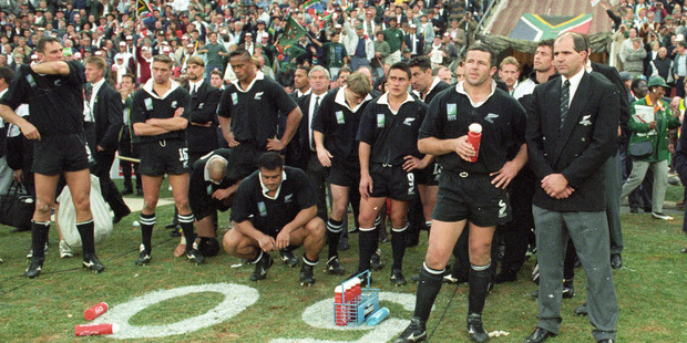 Loading The All Blacks lost the 1995 World Cup final against the Springboks. Rory Steyn believes contaminated fluids caused the illness.