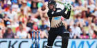 Martin Guptill plays the ball away for four runs during the Twenty20 match between New Zealand and Sri Lanka in January. Photo / Getty Images