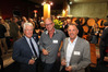 Hawke's Bay A&P Bayleys Wine Awards committee chairman Max Morton (left), chairman of the judges Warren Gibson, and Hawke's Bay A&P Society general manager Brent Linn at the event. PHOTO/Duncan Brown