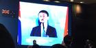Alibaba founder Jack Ma addresses the China Entrepreneur Club event.