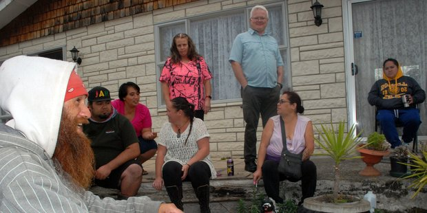 Earlier the family of the two Masterton children gathered at their home. Photo: Nathan Crombie / Wairarapa Times Age
