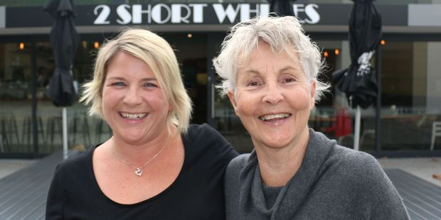 2 Short Whites front-of-house manager Jenni Hall (left) and cafe owner Sue Wright. PHOTO/HAYLEY GASTMEIER