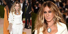 SJP rocked a smoky eye and ruffles at the glamorous Met Gala. Photo / Getty