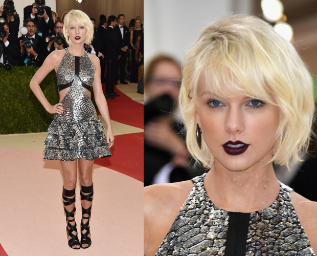 Taylor's outfit was a nod to futuristic chic. Photo / Getty