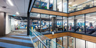 Interior of the NZME building with part of the newsroom in the background. Photo / File
