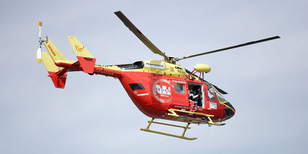 The man was airlifted to Middlemore Hospital. Photo / File