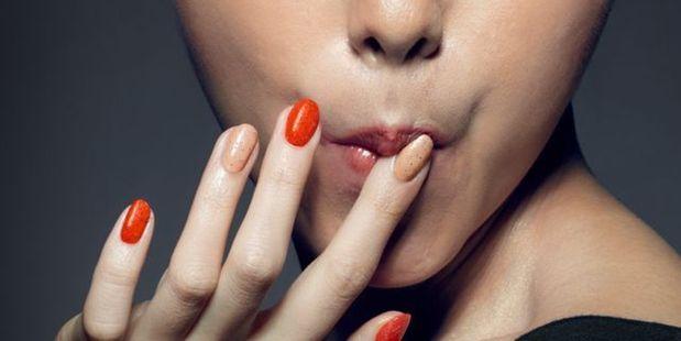 The nail polish is made from all natural, edible ingredients. Photo / KFC Hong Kong