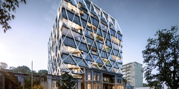 The 17-level office block will become a luxury residential block named The International.