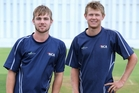 Henry Cooper and Ben Hyde are both playing cricket in the UK through Northland's winter. Photo / John Stone