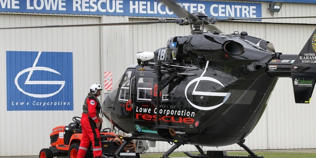 The Lowe Corporation Rescue Helicopter flew about 300 missions last year.