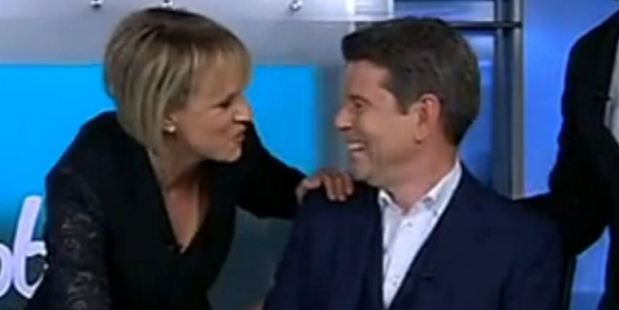 Loading Hilary Barry farewells John Campbell on his last episode of Campbell Live. Photo / Newshub