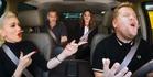 Gwen Stefani, George Clooney, Julia Roberts and James Corden in Carpool Karaoke. Photo / Youtube