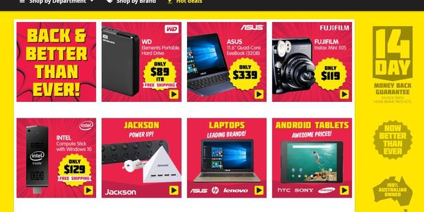 Dick Smith website relaunched a month earlier than expected. Photo / File