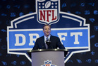 NFL Commissioner Roger Goodell opens up the 2016 NFL football draft. photo / AP