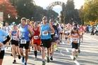 Thousands of people run and walked in the Rotorua Marathon. Photo / Ben Fraser