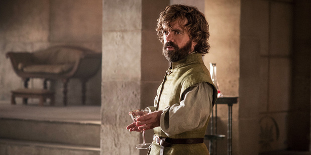 Tyrrion drinks, and knows things, in the latest episode of Game of Thrones. Photo/HBO