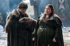 Iwan Rheon and Elizabeth Webster in a scene from Game of Thrones. Photo / HBO