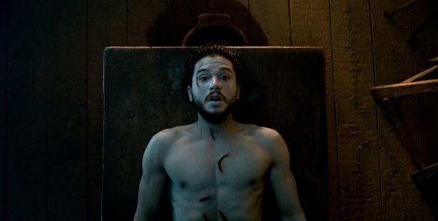 Jon Snow is resurrected on Game of Thrones.