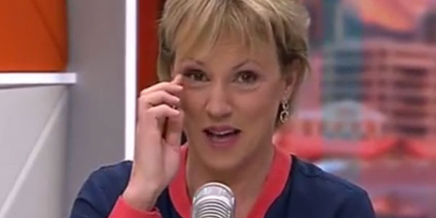 Loading Hilary Barry loses composure during an episode of The Paul Henry Show. Photo/YouTube