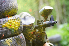 Physical contact - apart from shooting with pellets - is forbidden during paintball, and participants wear masks to protect their face. Photo / iStock