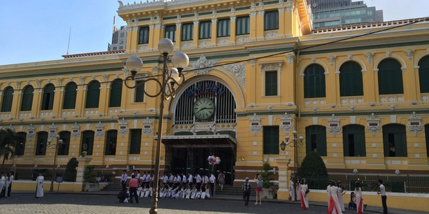The historic Saigon Post Office in Ho Chi Minh City, Vietnam. Photo / Eli Orzessek