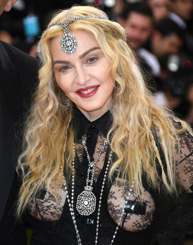 Madonna shows up on the Met Gala red carpet. Photo/Getty
